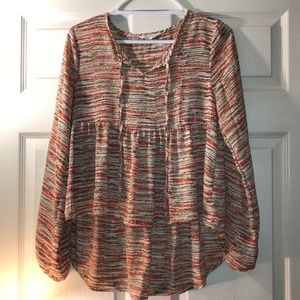 Painted Threads Sheer Blouse Size XS